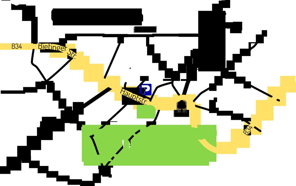 Lagplan Grenzpost Gottmadingen
