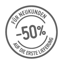 Neukundenrabatt: -50%